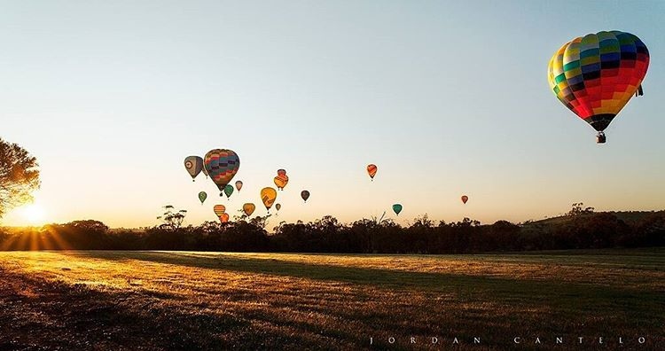 Sunrise at the National Ballooning championships last week in Northam