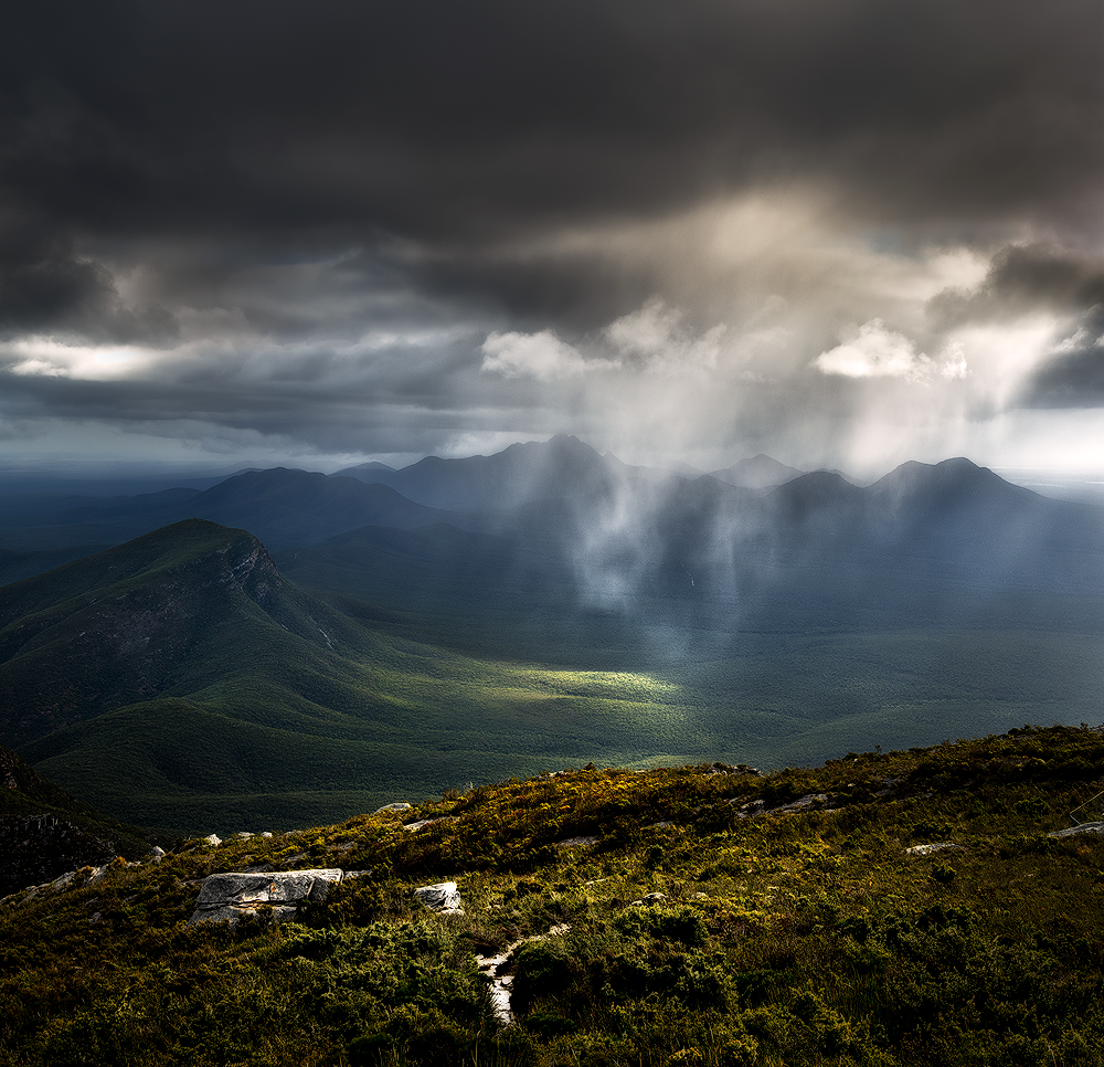 Rain Showers through the Stirling Range